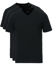 Boss 3-pack V-neck T-shirt Black