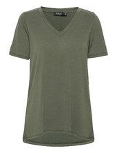 Slcolumbine Over T-shirt Ss T-shirt Top Grøn Soaked In Luxury