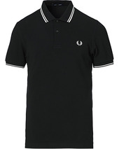 Fred Perry Twin Tip Polo Black