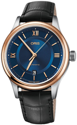 Oris Culture Dameur 01 733 7719 4375-07 5 20 35 Blå/læder Ø42 Mm
