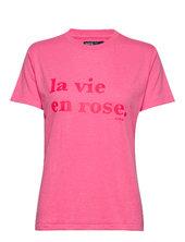 Svea Printed Love Tee T-shirt Top Lyserød Svea