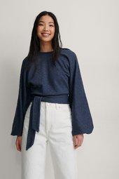 Na-kd Trend Økologisk Sweatshirt Med Slå-om Detalje - Navy