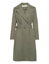 Yumaiw Coat Trenchcoat Frakke Grøn Inwear