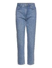 Denagz Hw Mom Jeans Lige Jeans Blå Gestuz