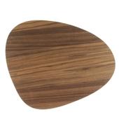 Dækkeserviet Valnød Træ/sort Læder - Curve Small