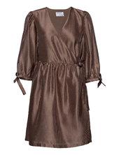 Enola Wrap Dress Dresses Wrap Dresses Brun Designers, Remix