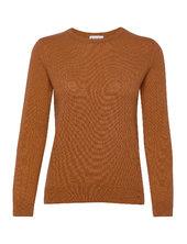 Basic Sweater Strikket Trøje Orange Davida Cashmere