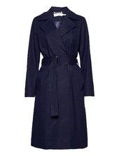 Yumaiw Coat Trenchcoat Frakke Blå Inwear
