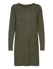Viril L/s Knit Dress - Noos Dresses Everyday Dresses Grøn Vila