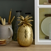 Isspand - Guld Ananas