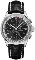 Breitling Premier Chronograph 42 Herreur A13315351b1p2 Sort/læder