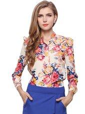 Blomstret Skjorte