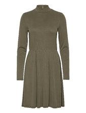 Objnadia Rose L/s Short Dress A Q Kort Kjole Grøn Object