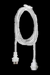 TrÅden Ledning Til Udendørs Brug E27 - 2,5 M Hvid