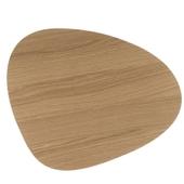 Dækkeserviet Ege Træ/sort Læder - Curve Small