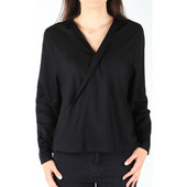 Skjorter / Skjortebluser Wrangler  L/s Wrap Shirt Black W5180bd01