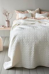 Tily Sengetæppe - Enkeltseng 180x260 Cm  Hvid