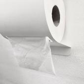 Toiletrulleholder Med Tape Til Væg - Hvid Metal