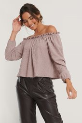 Na-kd Off-shoulder-crepetop - Pink