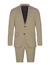Plain Mens Suit Habit Beige Lindbergh