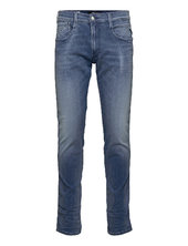 Anbass Trousers White Shades Slim Jeans Blå Replay