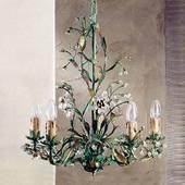 Grøn Francesca Lysekrone I Florentinsk Stil