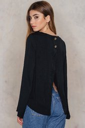 Na-kd Wrapped Back Top - Black