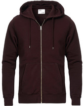 Colorful Standard Classic Organic Full Zip Hood Oxblood Red