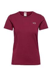 Nora Tee T-shirt Top Rød Kari Traa