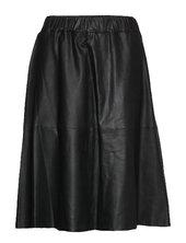 Skirt Knælang Nederdel Sort Depeche