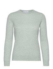 Basic Sweater Strikket Trøje Grøn Davida Cashmere