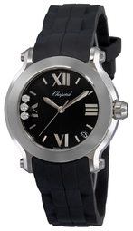 Chopard Happy Sport Dameur 278475-3014 Sort/gummi Ø36 Mm
