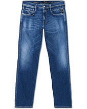 Replay Anbass Hyperflex Bio Jeans  Medium Blue