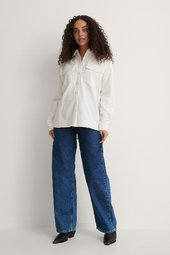 Na-kd Oversize Skjorte - Offwhite