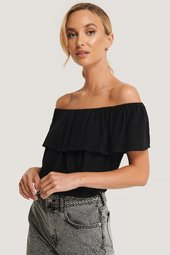 Sparkz Off Shoulder Top - Black