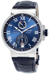 Ulysse Nardin Marine Collection Herreur 1183-126-43 Blå/læder Ø43