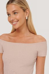Na-kd Basic Kortærmet Off-shoulder-top - Pink