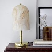 Lampe Med Glasskærm - Bloomingville