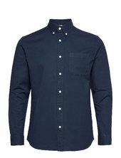 Slhregrick-ox Flex Shirt Ls S Skjorte Casual Blå Selected Homme