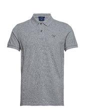 Original Pique Ss Rugger Polos Short-sleeved Grå Gant