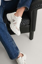 Na-kd Shoes Transparente Net Trainers - White