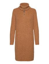 Objrachel L/s Knit Dress Dresses Everyday Dresses Brun Object