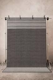 Dust Glatvævet Tæppe 200x290 Cm Sort/grå