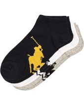 Polo Ralph Lauren 3-pack Sneaker Socks Grey/black/white