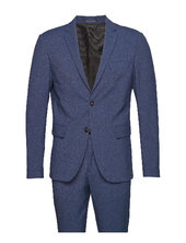 Plain Mens Suit Habit Blå Lindbergh