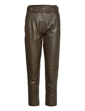 Indie Leather New Trousers Leather Leggings/bukser Brun Second Female