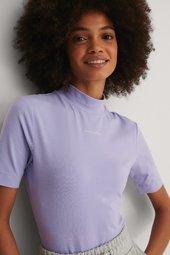 Calvin Klein Økologisk T-shirt - Purple