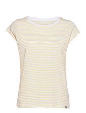 Organic Favorite Stripe Teasy T-shirt Top Creme Mads Nørgaard