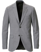 Tiger Of Sweden Jamonte Wool Suit Blazer Grey