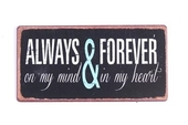 "Magnet 5x10 Cm - ""always And Forever...."""